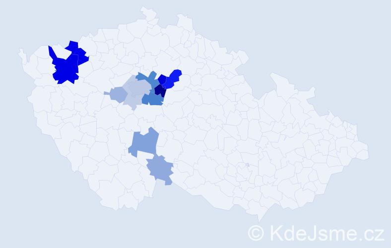 Příjmení: 'Faldusová', počet výskytů 38 v celé ČR
