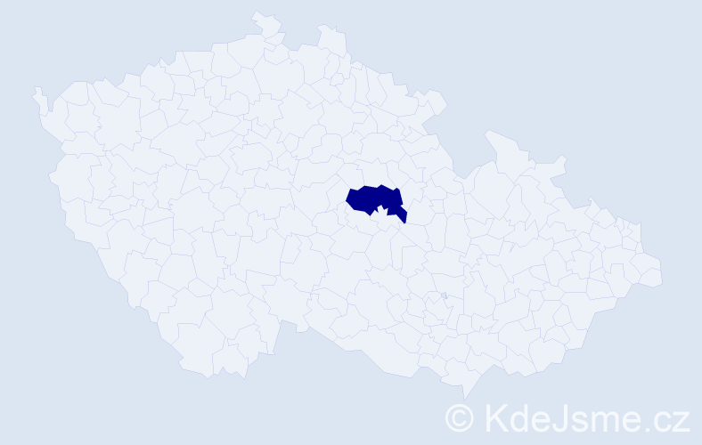 """Příjmení: '""""Korbová Krůzová""""', počet výskytů 1 v celé ČR"""