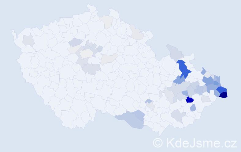 Příjmení: 'Gomolová', počet výskytů 229 v celé ČR