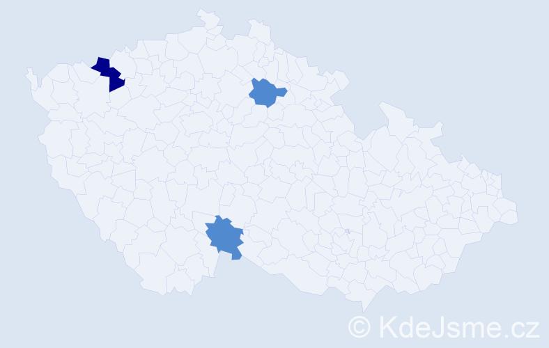 Příjmení: 'Hamacher', počet výskytů 4 v celé ČR