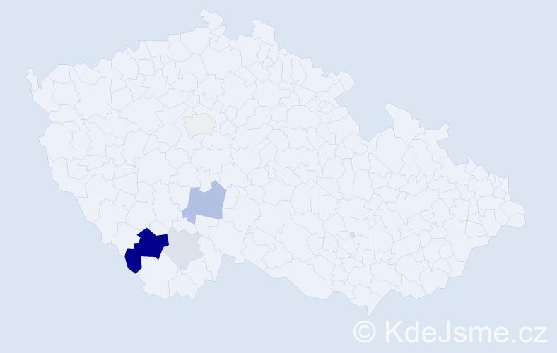 Příjmení: 'Friedková', počet výskytů 11 v celé ČR