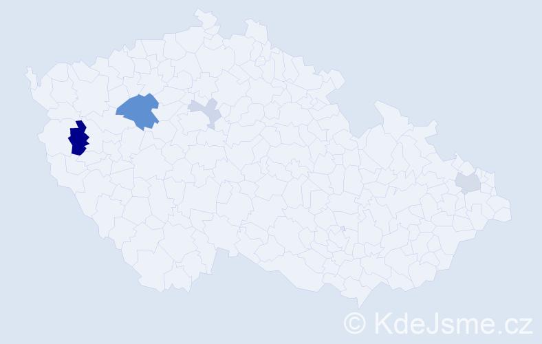 Příjmení: 'Gengel', počet výskytů 10 v celé ČR