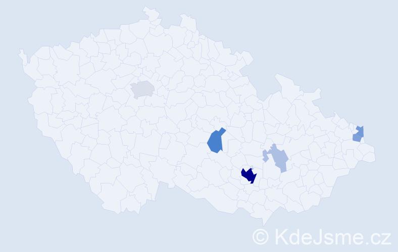 Příjmení: 'Cikrle', počet výskytů 31 v celé ČR