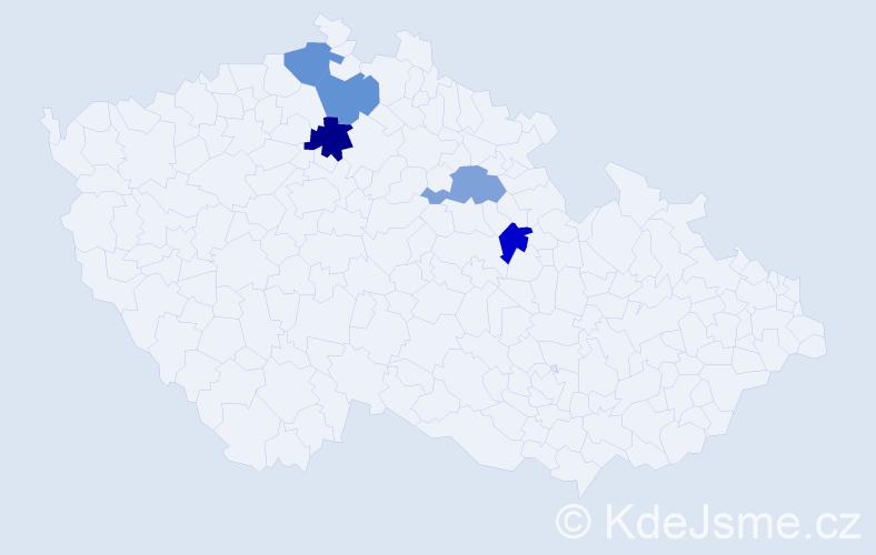 Příjmení: 'Chladíková', počet výskytů 11 v celé ČR