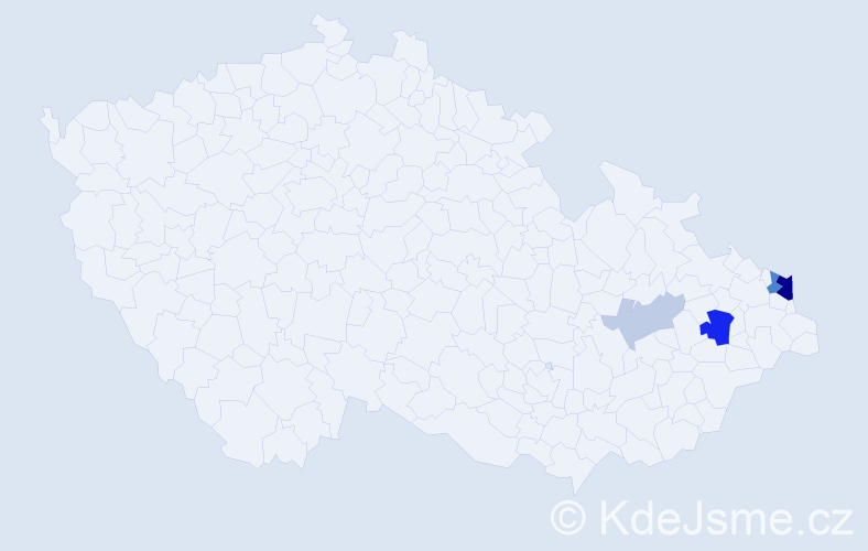 Příjmení: 'Canibal', počet výskytů 12 v celé ČR