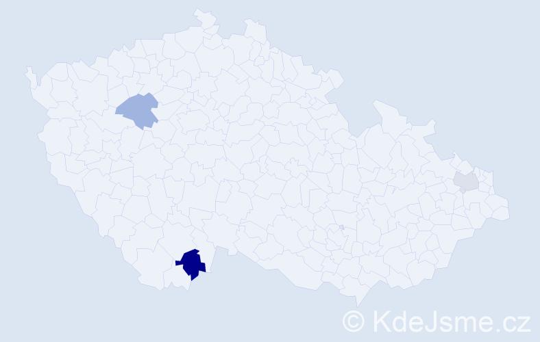 Příjmení: 'Goszler', počet výskytů 4 v celé ČR