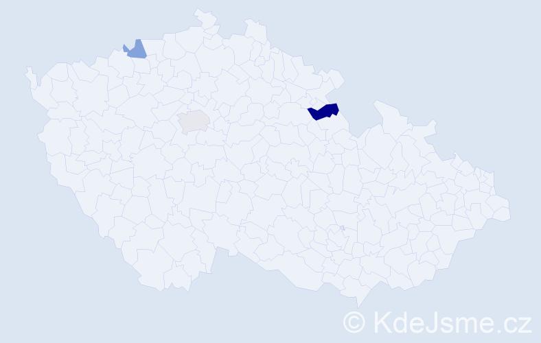 Příjmení: 'Isajev', počet výskytů 9 v celé ČR