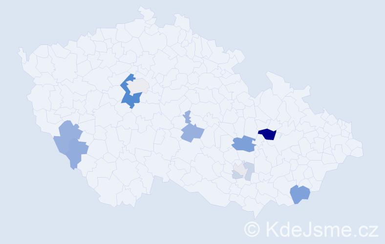Příjmení: 'Frenzl', počet výskytů 29 v celé ČR