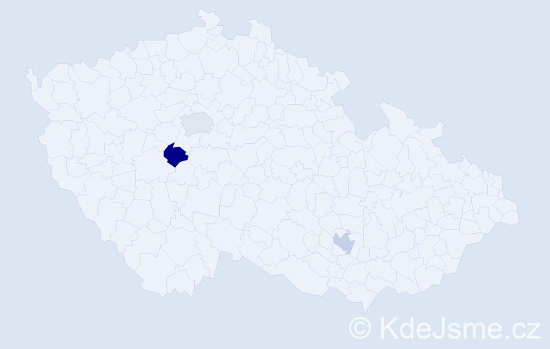 Příjmení: 'Colman', počet výskytů 3 v celé ČR