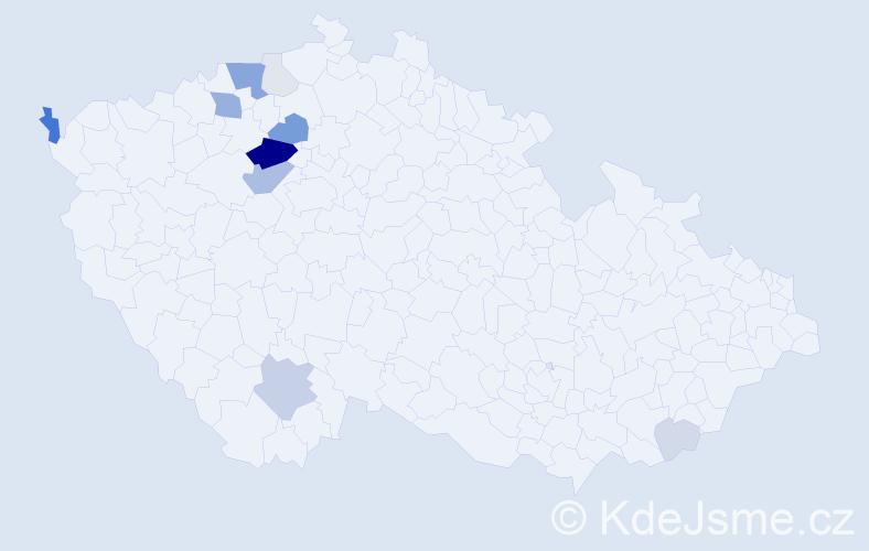 Příjmení: 'Klempt', počet výskytů 37 v celé ČR