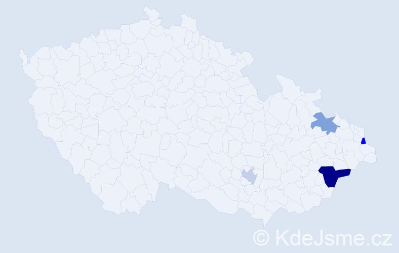 Příjmení: 'Dümler', počet výskytů 6 v celé ČR