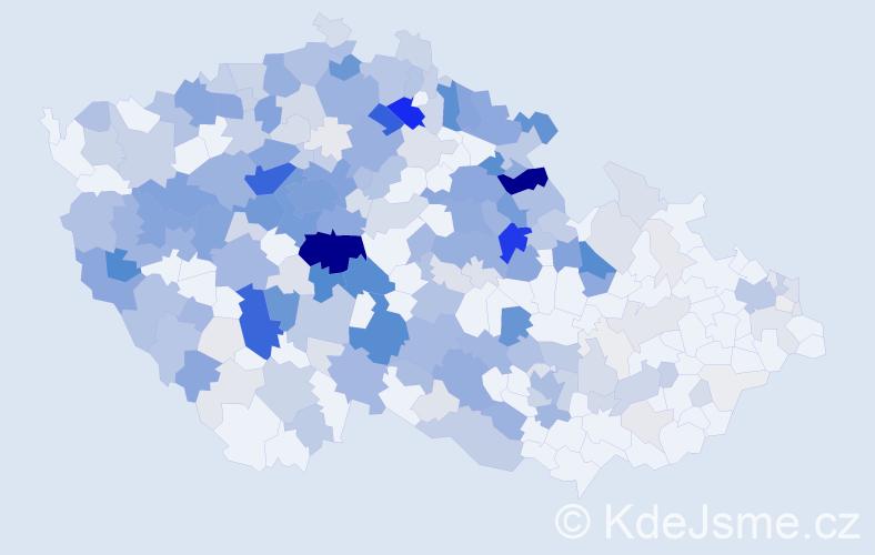 Příjmení: 'Hašek', počet výskytů 1262 v celé ČR