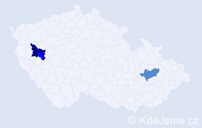 Příjmení: 'Lalo', počet výskytů 4 v celé ČR