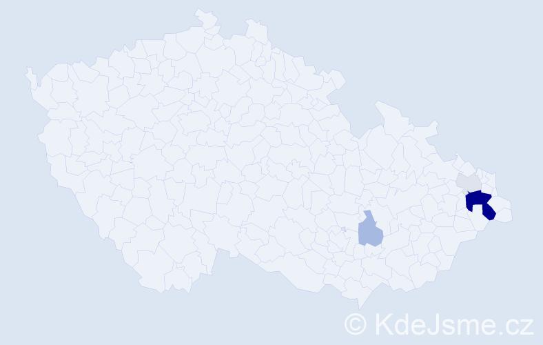 Příjmení: 'Jadomek', počet výskytů 13 v celé ČR