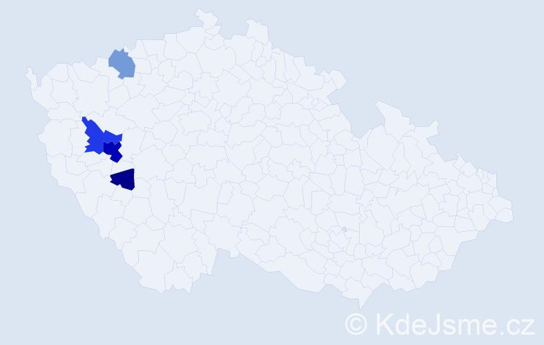 Příjmení: 'Feifrlíková', počet výskytů 16 v celé ČR