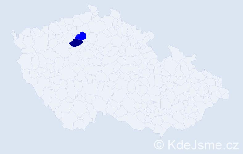 Příjmení: 'Landsdorfová', počet výskytů 5 v celé ČR