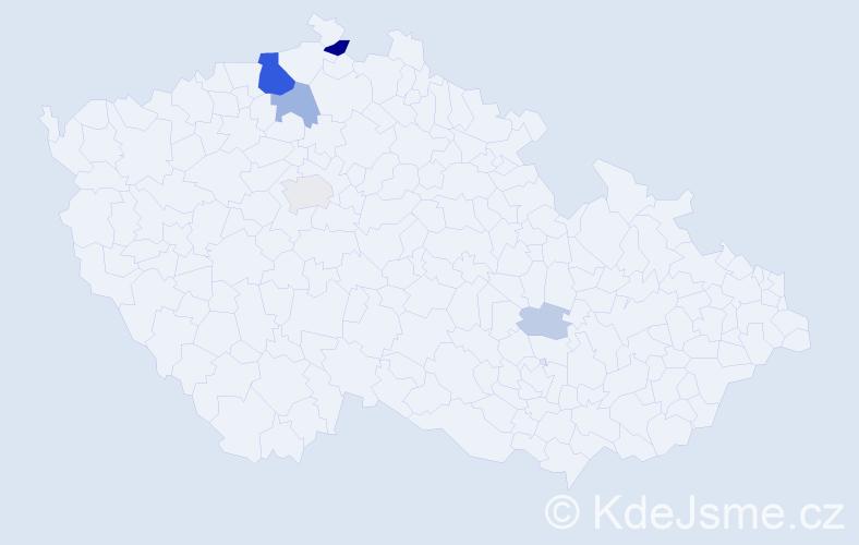 Příjmení: 'Belo', počet výskytů 20 v celé ČR