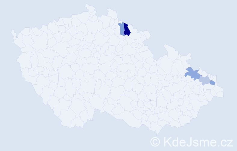Příjmení: 'Jaschke', počet výskytů 16 v celé ČR