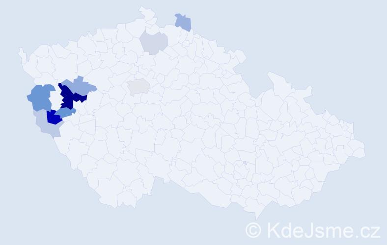Příjmení: 'Grláková', počet výskytů 28 v celé ČR