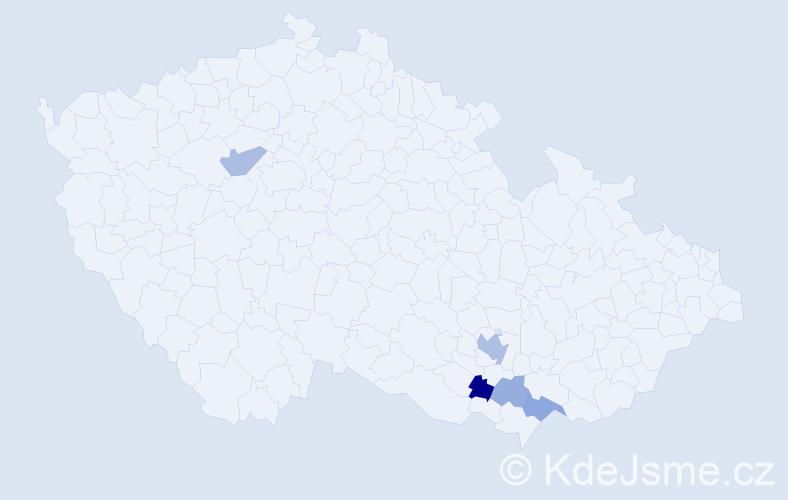 Příjmení: 'Ledahudec', počet výskytů 12 v celé ČR