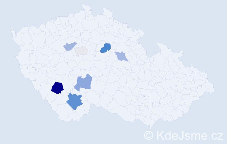 Příjmení: 'Breit', počet výskytů 11 v celé ČR