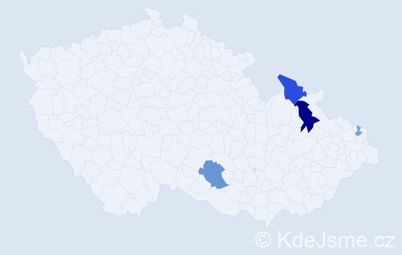 Příjmení: 'Kopilčák', počet výskytů 8 v celé ČR