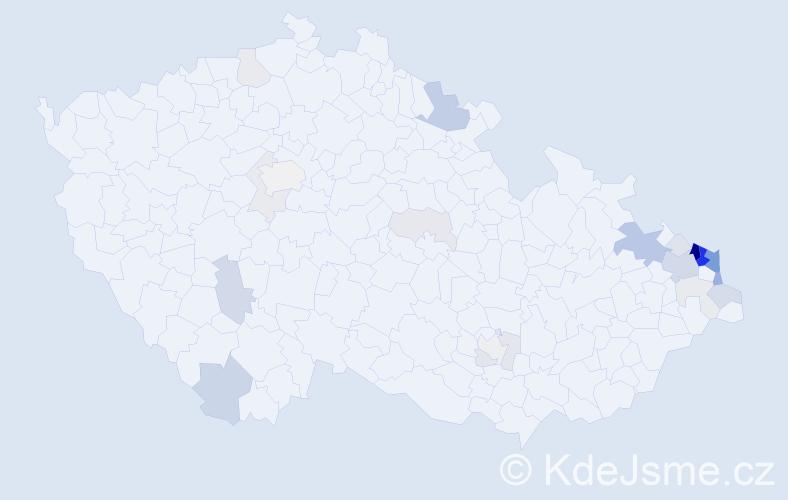 Příjmení: 'Adamczyk', počet výskytů 87 v celé ČR