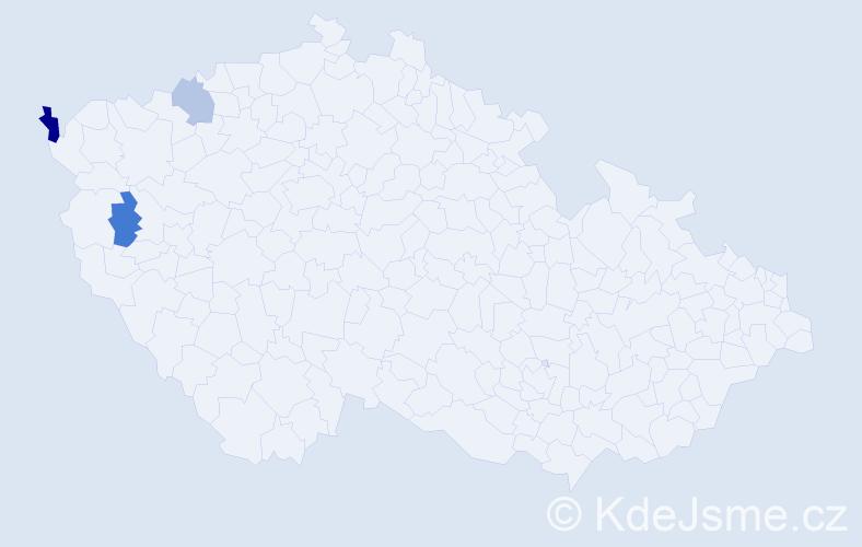 Příjmení: 'Egelkrautová', počet výskytů 4 v celé ČR