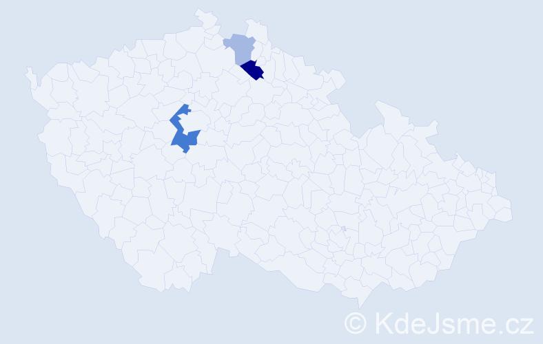 Příjmení: 'Chomyková', počet výskytů 6 v celé ČR