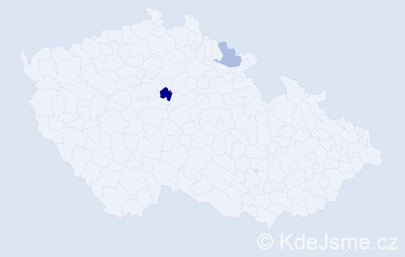 Příjmení: 'Glovňa', počet výskytů 3 v celé ČR