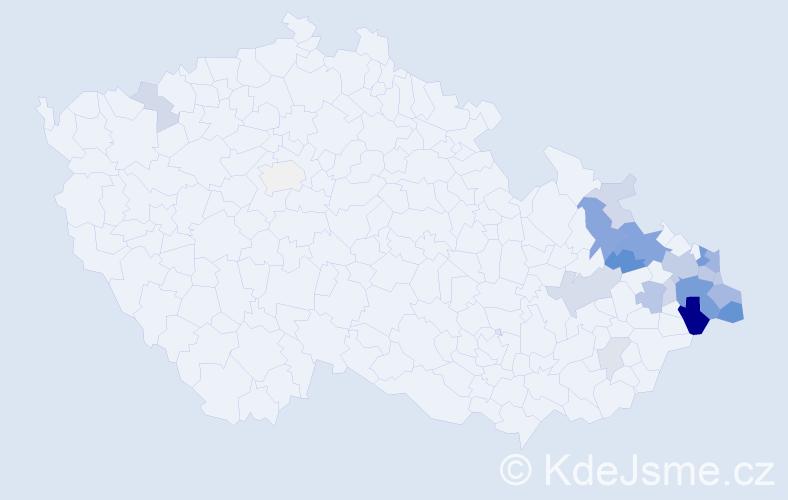 Příjmení: 'Bělica', počet výskytů 64 v celé ČR