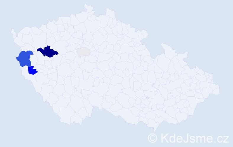 Příjmení: 'Kalser', počet výskytů 6 v celé ČR
