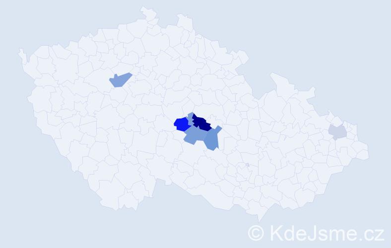 Příjmení: 'Kawik', počet výskytů 14 v celé ČR