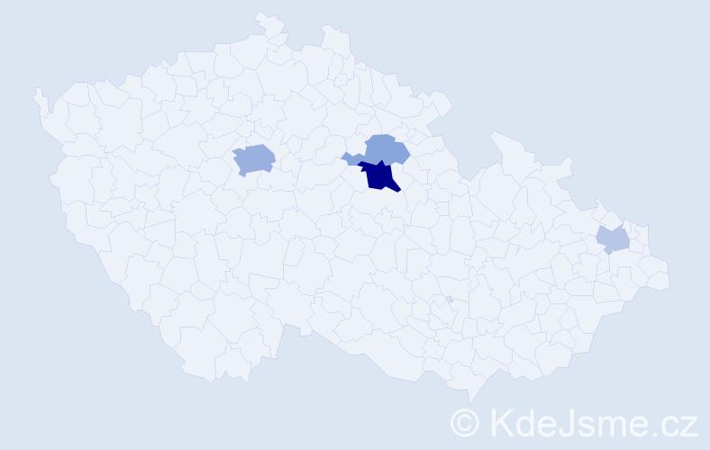 Příjmení: 'Klimáček', počet výskytů 11 v celé ČR