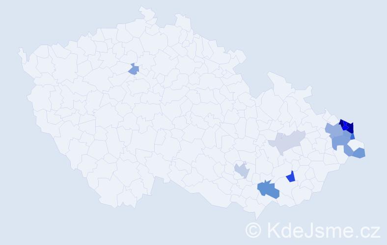 Příjmení: 'Linzer', počet výskytů 43 v celé ČR