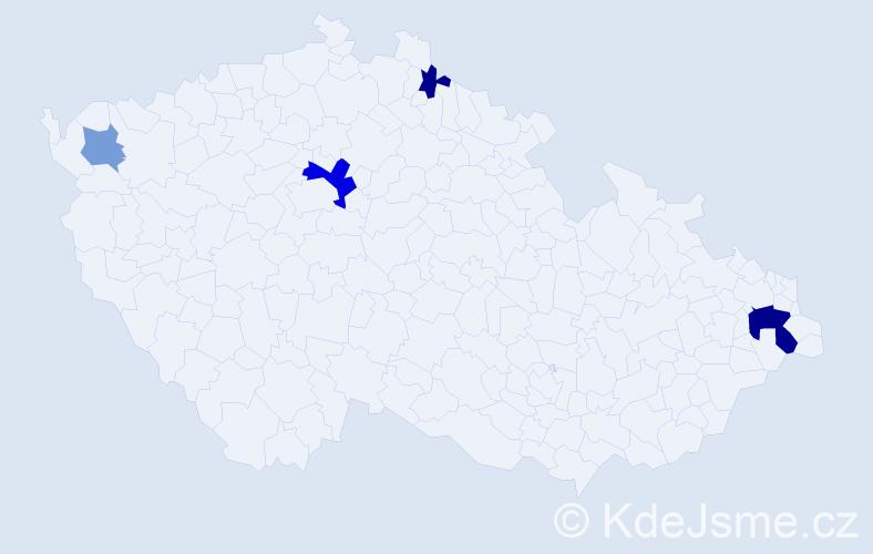 Příjmení: 'Cée', počet výskytů 9 v celé ČR