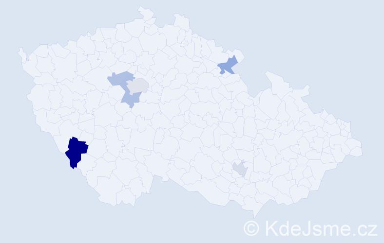 Příjmení: 'Gunitš', počet výskytů 8 v celé ČR