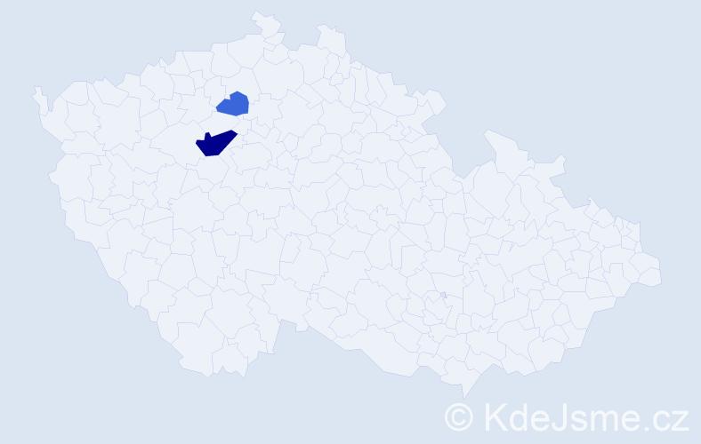 Příjmení: 'Kiliáš', počet výskytů 6 v celé ČR