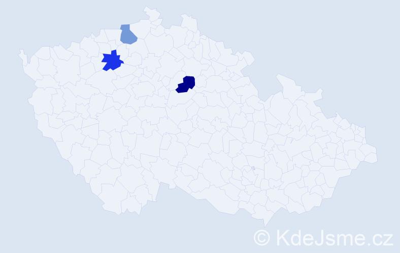 Příjmení: 'Hauenschildová', počet výskytů 3 v celé ČR