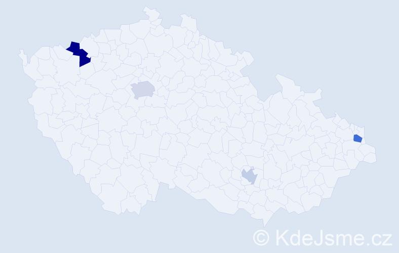Příjmení: 'Laskowski', počet výskytů 7 v celé ČR