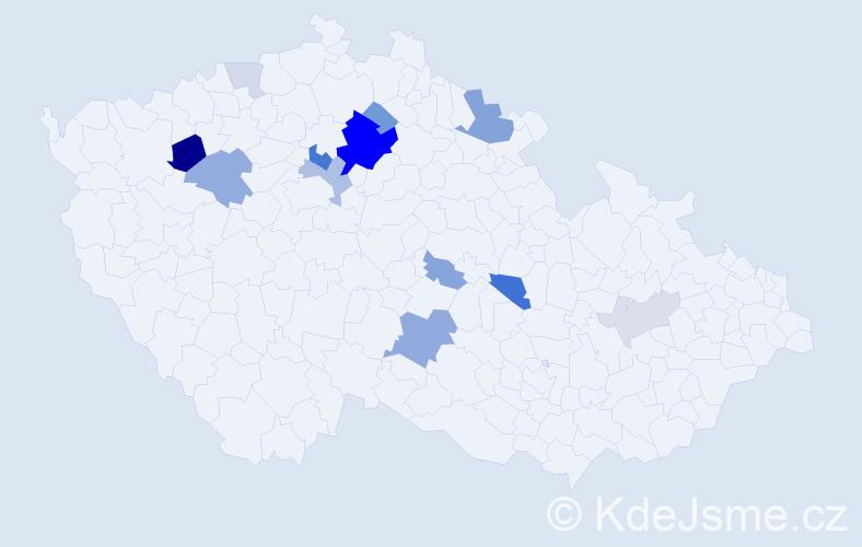 Příjmení: 'Dalibor', počet výskytů 35 v celé ČR