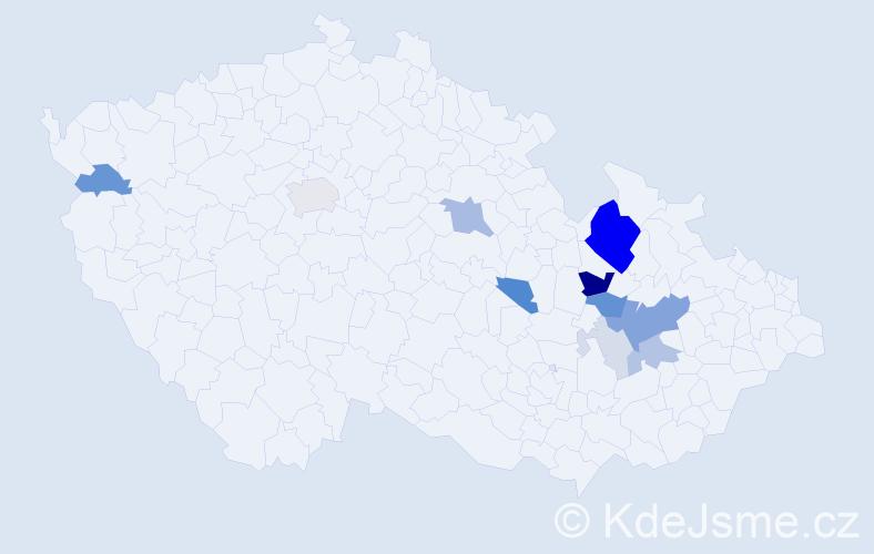 Příjmení: 'Křepský', počet výskytů 37 v celé ČR