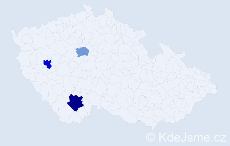 Příjmení: 'Lässigová', počet výskytů 4 v celé ČR