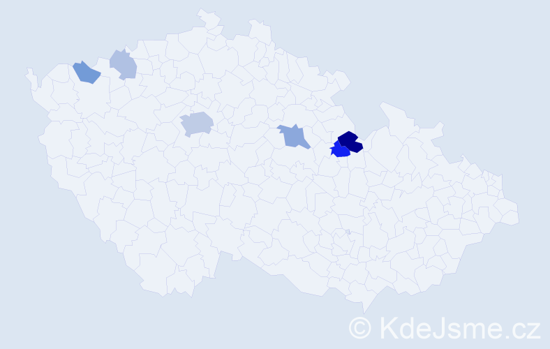 Příjmení: 'Kozl', počet výskytů 16 v celé ČR