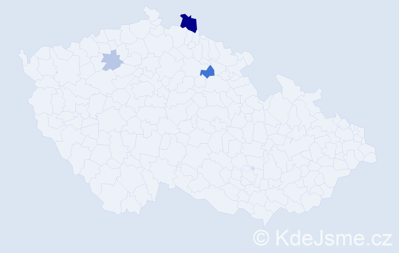 Příjmení: 'Nichtová', počet výskytů 8 v celé ČR