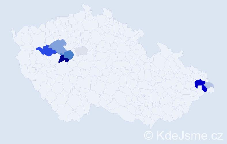 Příjmení: 'Eschner', počet výskytů 28 v celé ČR