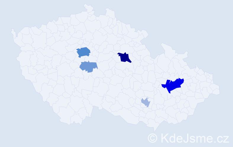 Příjmení: 'Epsteinová', počet výskytů 30 v celé ČR