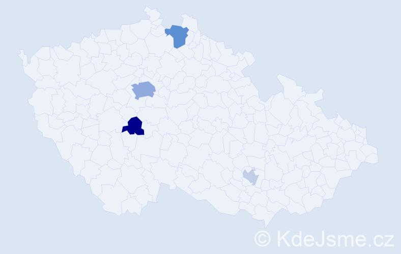 Příjmení: 'Feldek', počet výskytů 10 v celé ČR