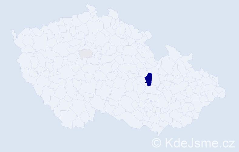 Příjmení: 'Koranis', počet výskytů 3 v celé ČR