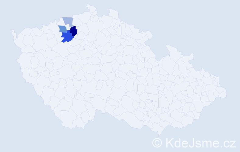 Příjmení: 'Gaertnerová', počet výskytů 7 v celé ČR